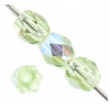Fire Polished 4mm Light Green Aurora Borealis